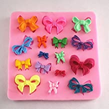 Good Cool 16 Cavities Small Bow Bowknot Silicone Mold Sugar Craft DIY Gumpaste Cake Decorating Clay