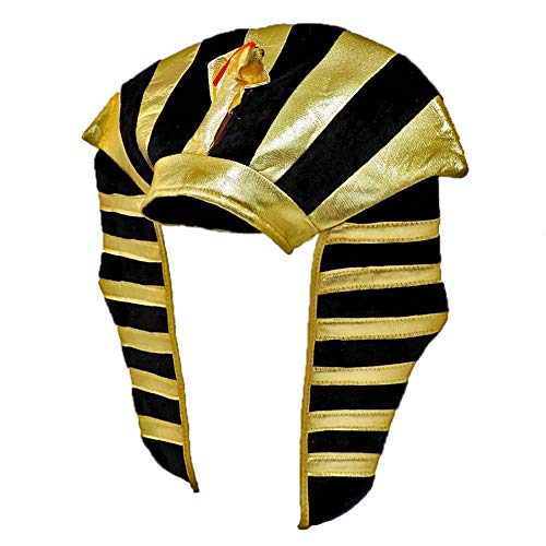 Gold Lamé Egyptian Pharaoh King Tut Costume Headdress -