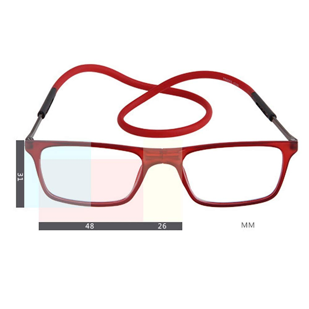 Occhiali da Lettura Unisex Portatili Occhiali da Lettura Pieghevoli Moda Occhiali da Lettura Adsorbimento Occhiali da Lettura,Brown,1.0 P/&KK Occhiali da Lettura Portatili
