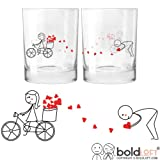 BOLDLOFT All My Love for You Couples Drinking Glasses-Valentines Day Gifts for Him,Boyfriend Gifts,Husband Gifts,Anniversary Gift for Him,Engagement Gifts for Couples,Gifts for Couples,His Hers Gifts