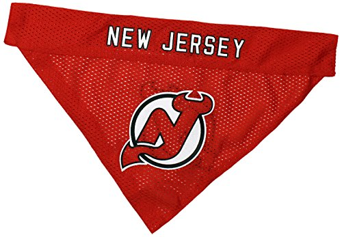 NHL New Jersey Devils Bandana for Dogs & Cats, Large/X-Large. - Cute & Stylish Bandana! The Perfect Hockey Fan Scarf Bandana, Great for Birthdays or Any Party!]()