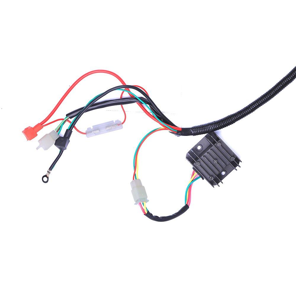 CISNO Complete Electrics Stator Coil CDI Wiring Harness for 4-Stroke ATV QUAD 150cc-300cc