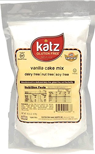 Katz Gluten Free Vanilla Cake Mix, 20.5 Ounce, Certified Gluten Free - Kosher - Dairy, Nut & Soy free - (Pack of 1)