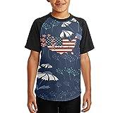 NVJ SHIRT USA Wrestling Teen Boys Comfort Raglan T-Shirts