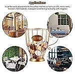 ACELEY-Cesto-portaoggetti-per-caffe-Cesto-porta-capsule-caffe-Cesto-porta-tazze-universale-Cestino-porta-capsule-caffe-vintage-per-Home-Cafe-Hotel-dorato-L
