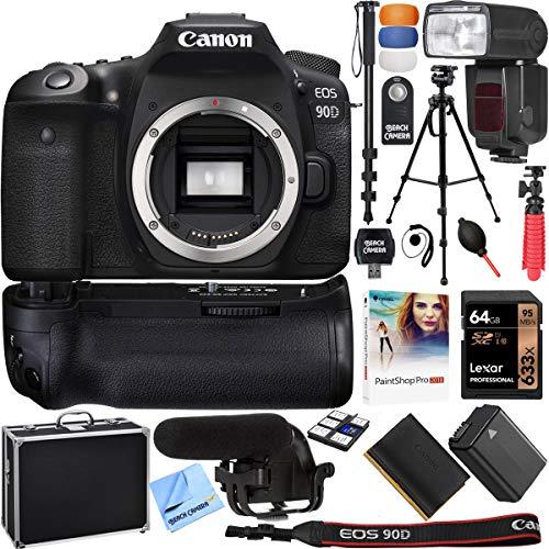 Canon EOS 90D 32.5MP APS-C CMOS Sensor Digital SLR 4K Camera (Body) + Accessories Kit