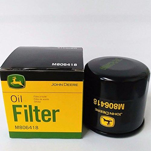 M806418 John Deere Oil Filter 1023E, 1025R, 1026R, 2210, 4010,755, HPX-DIESEL GATOR,455 LAWN MOWER, X495, X740, X748, and 1435 FRONT MOWER.