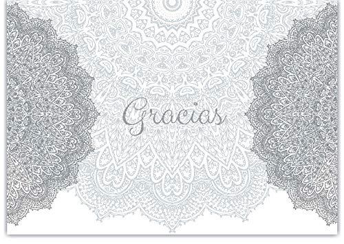 20 Tarjetas de Agradecimiento Thank You cards Notes in Spanish Gracias Cards for Wedding, Baby Shower,Anniversary, Bridal Shower - Mandala Gracias Cards in Spanish Español with envelopes