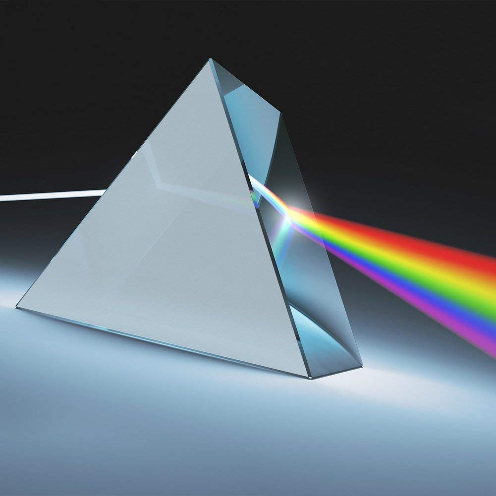 Triple Prism Practical Educational Equipment Glass Prism for Physics Photography