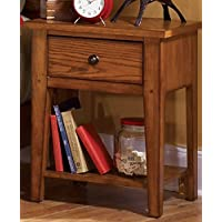 Liberty Furniture 175-BR60 Grandpas Cabin Night Stand, 22 x 16 x 27, Aged Oak