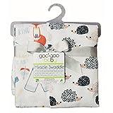 Goo-Goo Baby Miracle Swaddle 2 Pack in Desert Fox/Hedgehogs