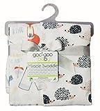 Goo-Goo Baby Miracle Swaddle 2 Pack, Hedgehog & Fox