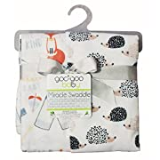 Goo-Goo Baby Miracle Swaddle 2 Pack, Hedgehog & Fox