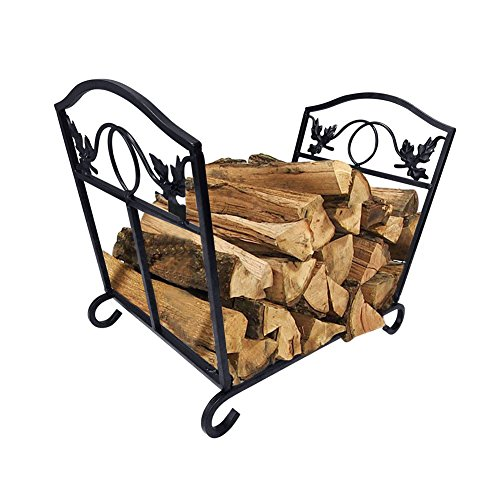 Sale!! Fireplace Log Holder Wrought Iron Fire Wood Stove Stacking Rack Logs Bin Firewood Storage Car...