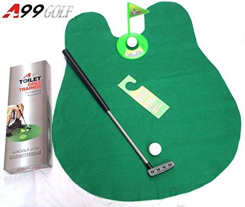 2sets of A99 Golf Toilet Bathroom Mini Golf Mat Set Game Potty Putter by A99 Golf