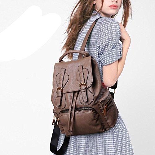 Daypack Sac Sac En Style Dos Cuir Brown Bandoulière à De Pour De ADEMI Voyage Délicat à Sac Femmes gHdAxqga