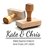 Wood Stamper, Custom Personalized Wooden Handle Return Address Stamp - Perfect Family, Business, Real Estate, Housewarming, Wedding, Teacher Client, or Christmas Gift