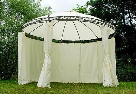 Carpa redonda (Borgoña Pergola pérgolas 3,5 m con cortinas