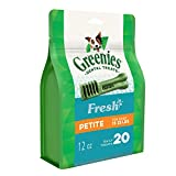 Greenies Petite Dental Dog Treats, Fresh Flavor, 12 Oz. Pack (20 Treats), Makes A Great Holiday Dog Stocking Stuffer For Sale