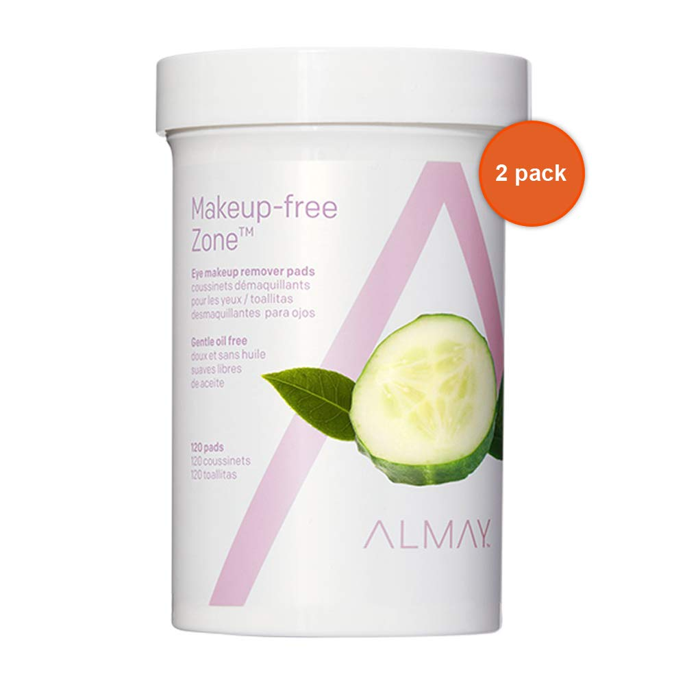 Almay Oil-free Eye Makeup Remover Pads, 120-Count (Pack of 2) by Almay