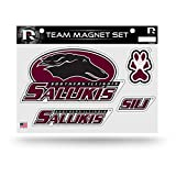 "NCAA Southern Illinois Salukis NCAA Team Magnet Sheet, Red, 11"" x 8.5"" x 25"""
