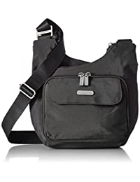 Baggallini Luggage Criss Cross Water Resistant Bag, Charcoal, One Size