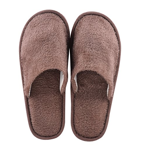 Slip On Toe Hotel Home House Guest Closed Slippers Travel Coffee Spa qawxzg8