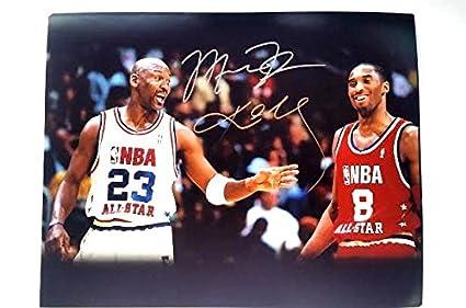 b8ab00111023b7 Kobe Bryant   Michael Jordan Autographed 11x14 Photograph at ...