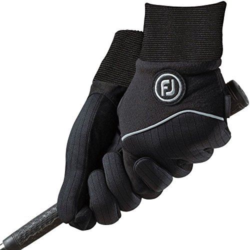 FootJoy WinterSof Golf Gloves (1 Pair) (Black, ML)