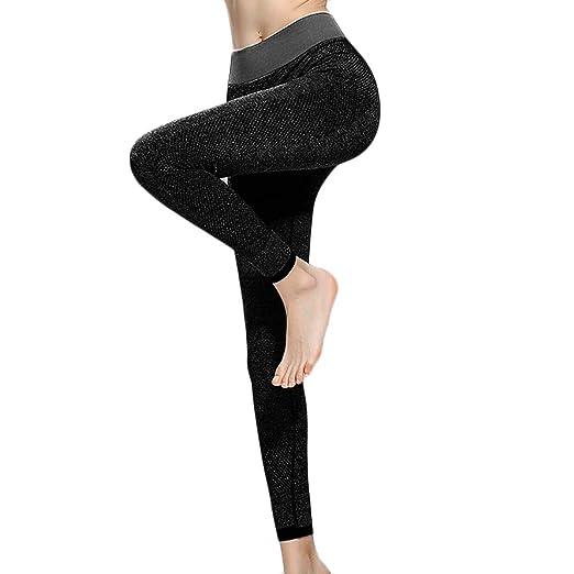 c5184a2fc0 aiNMkm Elastic Trousers for Women,Women's Fashion Solid High Waist Leggings  Running Sports Gym Yoga