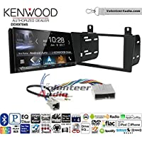 Volunteer Audio Kenwood DDX9704S Double Din Radio Install Kit with Apple Carplay Android Auto Fits 2004-2006 Lincoln LS