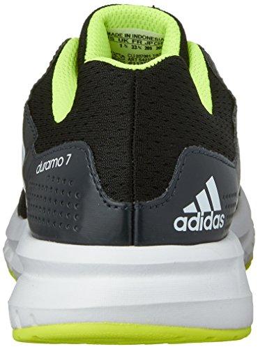 best website 55c32 52c64 adidas Performance Duramo 7 K zapatilla de running poco Kid Big Kid negro  blanco amarillo