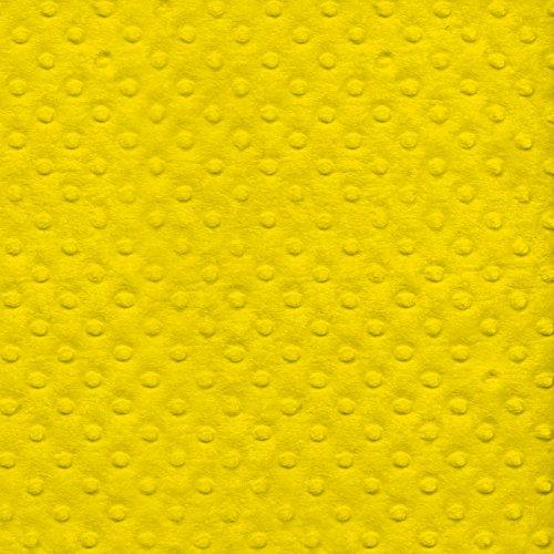 Yellow Minky Bubble Plush Fleece Fabric