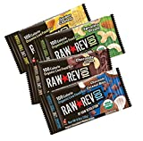 Raw Rev Organic Vegan, Gluten-Free 100 Calorie Bars - 4-Flavor Variety 0.8 ounce (Pack of 20)