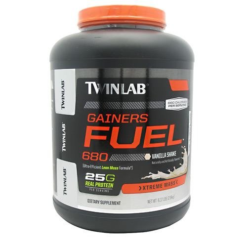 Twinlab Gainer's Fuel Pro, Advanced Anabolic Weight Gain Formula, Mass Dietary Supplement, Vanilla 4.1 Pound