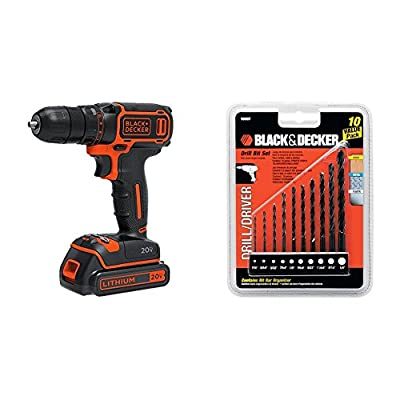 Black & Decker MAX Lithium Single Speed Drill/Driver