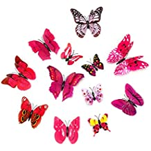 HBOS 12 PCS Wall Decal Butterfly, Wall Sticker Decals for Room Home Nursery Decor