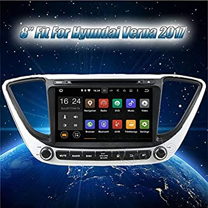 CAR AXIS INDIA THE NEXT GEN VERNA 2017 8 inch Android: Amazon in