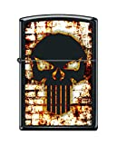 Zippo Custom Design Punisher Skull on Blk Matte w/White Wall Background Windproof Collectible Lighter. Made in USA Limited Edition & Rare
