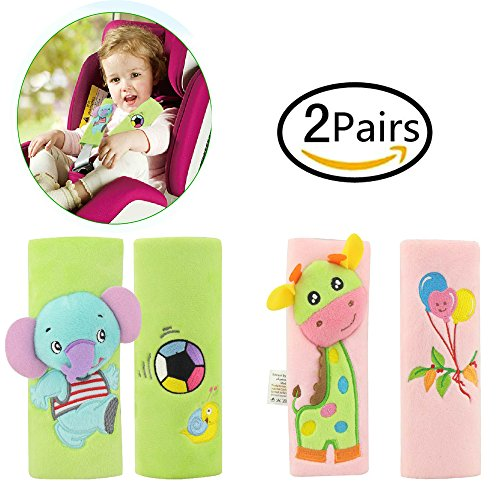 Infant and Baby Car Seat Strap Covers,Stroller Belt Covers,Head Support, Shoulder ()