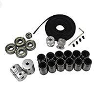 BALITENSEN 3D Printer Movement Kit for Reprap Prusa I3-GT2 Timing Belt + 20T Timing Pulley + 608zz Bearing + LM8UU Linear Bearing + 624zz Bearing + Motor Shaft Flexible Coupler by BALITENSEN