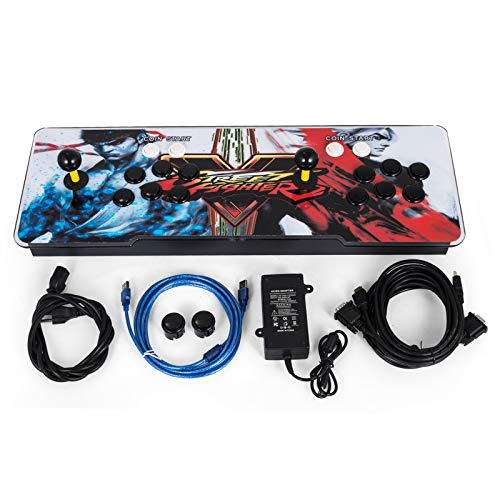 Happybuy Video Game Console, Arcade Machine Over 1500 Latest Classic Games, 2 Players Pandora's Box 9S Multiplayer Home Arcade Console Games All in 1 Non-Jamma PCB Double Stick Newest Design Power HDM ()