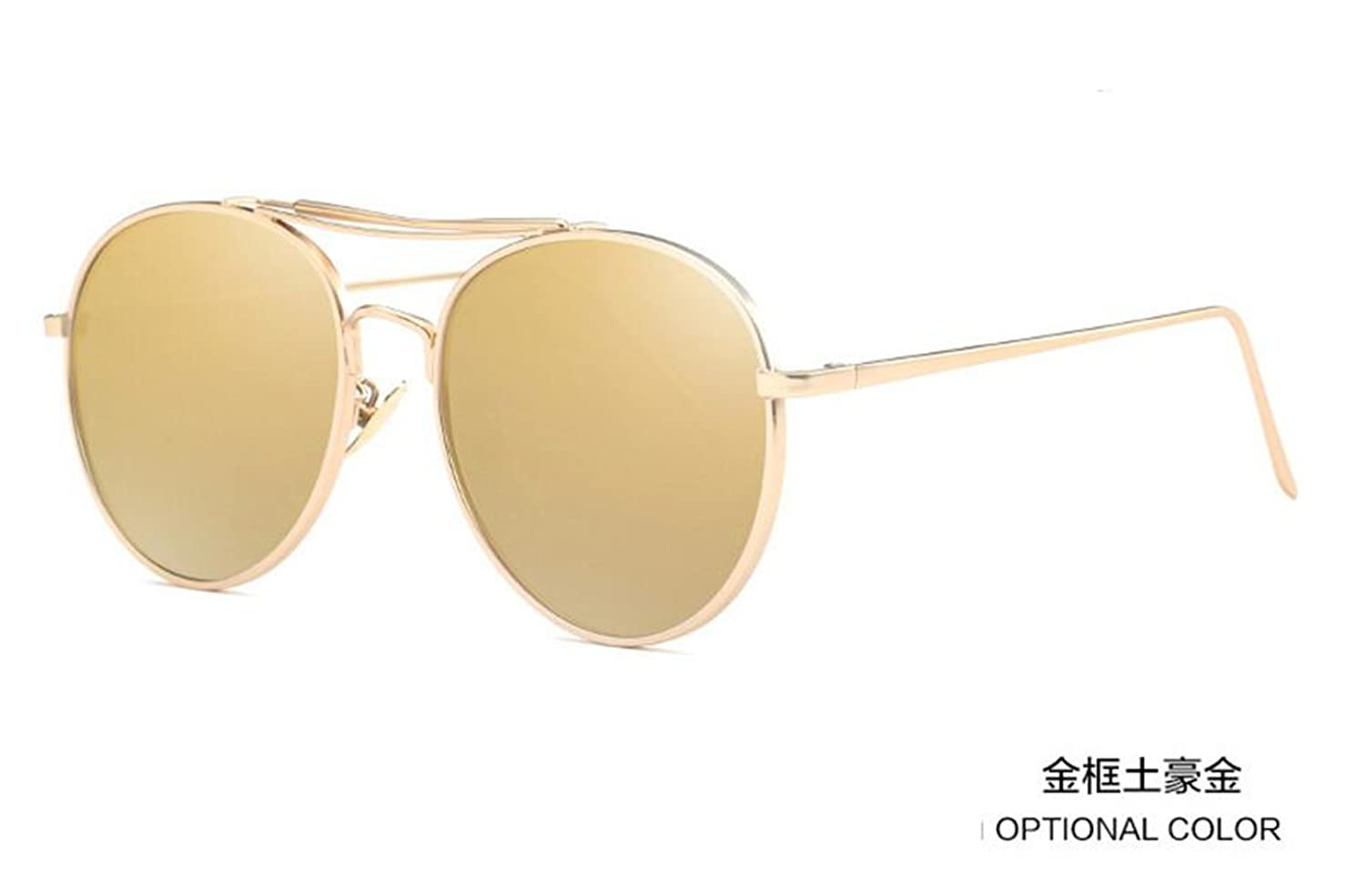 personality sunglasses GLSYJ@,Polarized color film men and women, fashion sunglasses sunglasses large box