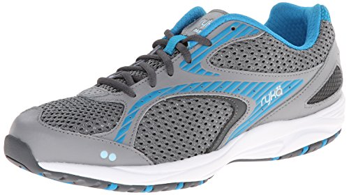 RYKA Women's Dash 2 Walking Shoe, Frost Grey/Iron Grey/Malibu Teal/Crystal Blue, 8 M US