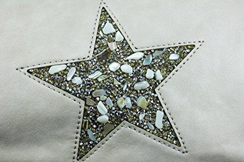 FERETI Borse Beige grande con stella design cristallo pietre e conchiglie Abastecimiento De Descuento Compra Salida Footaction Salida Nicekicks De Salida E0EeNXmD