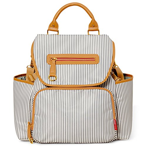 Grand Stripe (Skip Hop Baby Grand Central Take-It-All Diaper Backpack, French Stripe)