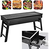 surpzon Barbecue Charcoal Grill Stainless Steel Folding Portable BBQ Tool Kits for Outdoor Cooking Camping Hiking Picnic