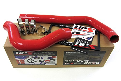 HPS 57-1222-RED Red Silicone Radiator Coolant Hose Kit by HPS (Image #1)