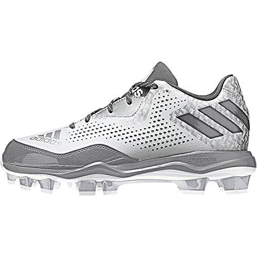Scarpa Softball Adidas White-light Onix-silver Adidas Da Donna Poweralley 4 W Met