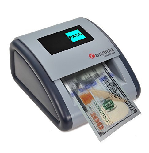 - Cassida Small Footprint Easy Read Automatic Counterfeit Detector